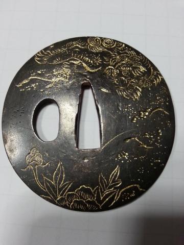 Tsuba Edo dorata.jpg