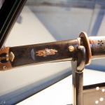 Koshirae del periodo Edo con raffigurati motivi primaverili ed autunnali, kodogu in rame patinato con riporti in argento e oro