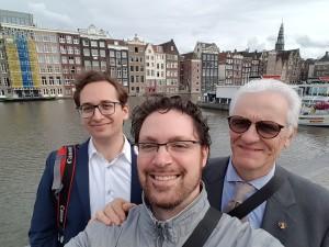 Foto di gruppo ad Amsterdam.