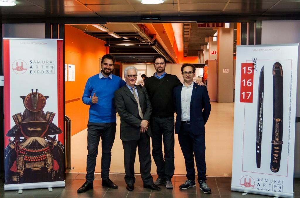 Simone di Franco, Massimo Rossi, Enrico Ferrarese e Francesco Marinelli in rappresentanza di I.N.T.K. ed N.B.T.H.K. Italian Branch.
